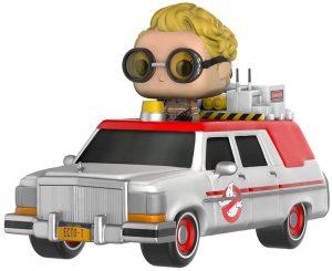 Figura FUNKO POP Rides de Jillian Holtzmann en Ecto-1 de los Cazafantasmas - FUNKO POP Rides exclusivos - FUNKO POP con vehículos