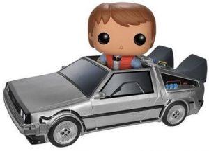 Figura FUNKO POP Rides de Marty McFly en el Delorean - FUNKO POP Rides exclusivos - FUNKO POP con vehículos