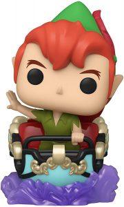 Figura FUNKO POP Rides de Peter Pan sobre coche de feria de Disney - FUNKO POP Rides exclusivos - FUNKO POP con vehículos