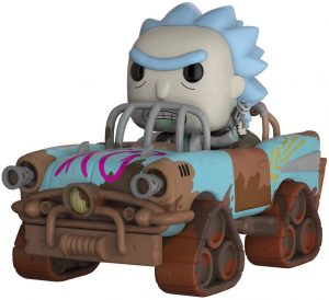 Figura FUNKO POP Rides de RIck en coche de Mad Max de Rick y Morty - FUNKO POP Rides exclusivos - FUNKO POP con vehículos
