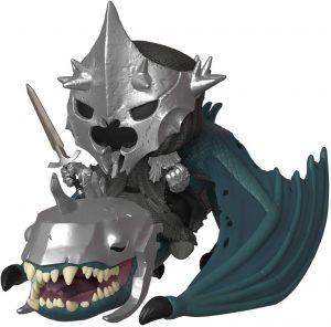 Figura FUNKO POP Rides de Rey brujo sobre Bestia del Señor de los Anillos - FUNKO POP Rides exclusivos - FUNKO POP con vehículos