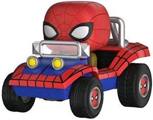 Figura FUNKO POP Rides de Spiderman en coche de Marvel - FUNKO POP Rides exclusivos - FUNKO POP con vehículos
