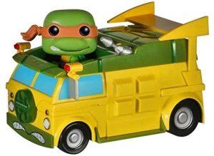 Figura FUNKO POP Rides de Tortuga Ninja en Furgoneta - FUNKO POP Rides exclusivos - FUNKO POP con vehículos