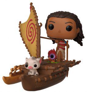 Figura FUNKO POP Rides de Vaiana en barco de Disney - FUNKO POP Rides exclusivos - FUNKO POP con vehículos