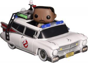 Figura FUNKO POP Rides de Winston Zeddemore en Ecto-1 de los Cazafantasmas - FUNKO POP Rides exclusivos - FUNKO POP con vehículos