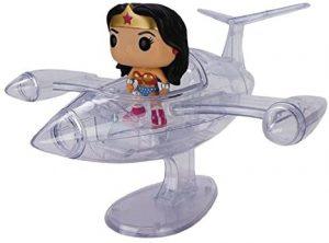 Figura FUNKO POP Rides de la Mujer Maravilla sobre avión invisible de DC - FUNKO POP Rides exclusivos - FUNKO POP con vehículos