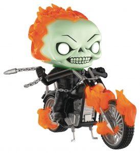 Figura FUNKO POP Rides del Motorista Fantasma en moto de Marvel - FUNKO POP Rides exclusivos - FUNKO POP con vehículos