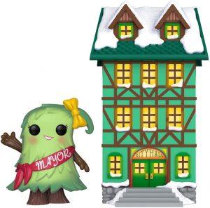 Figura FUNKO POP Town de Alcalde Árbol de Navidad y casa 04 - FUNKO POP Town exclusivos - FUNKO POP con casas y edificios