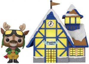 Figura FUNKO POP Town de Reno de Navidad y casa - FUNKO POP Town exclusivos - FUNKO POP con casas y edificios