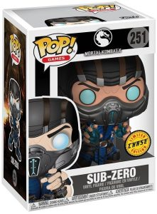 Figura FUNKO POP Chase de Sub-Zero 251 de Mortal Kombat - FUNKO POP Chase exclusivos - FUNKO POP únicos difíciles de conseguir