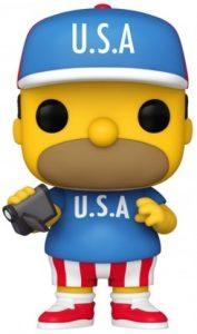 Funko POP de Homer Simpson USA de los Simpsons - Los mejores FUNKO POP de los Simpsons - Los mejores FUNKO POP de series de animación