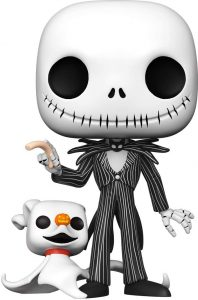 Funko POP de Jack Skellington con Zero de Nightmare Before Christmas de 10 pulgadas - 25 centímetros - Los mejores FUNKO POP Super-Sized - Funko POP grandes de Disney