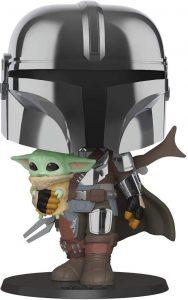 Funko POP de The Mandalorian y Baby Yoda de 10 pulgadas - 25 centímetros - Los mejores FUNKO POP Super-Sized - Funko POP grandes de Star Wars