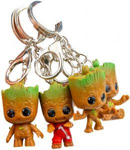 4 Llaveros de Baby Groot - Los mejores llaveros de Baby Groot de Marvel - Keychain