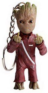 Llavero de Baby Groot con traje - Los mejores llaveros de Baby Groot de Marvel - Keychain