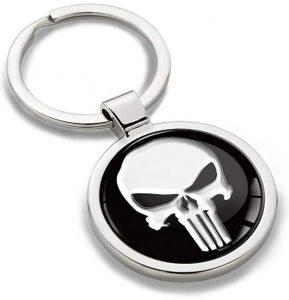 Llavero de la calavera de The Punisher - Los mejores llaveros de The Punisher de Marvel - Keychain