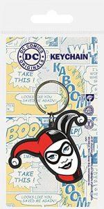 Llavero de máscara de Harley Quinn - Los mejores llaveros de DC - Keychain