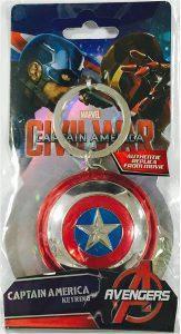 Llavero del escudo de Capitán América - Los mejores llaveros de Capitán América de Marvel - Keychain