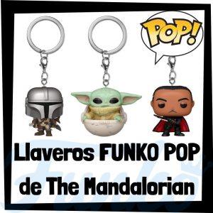 Los mejores llaveros FUNKO POP Pocket de The Mandalorian de Star Wars - Llavero Funko POP de personajes de The Mandalorian - Keychain FUNKO POP de The Mandalorian de Star Wars
