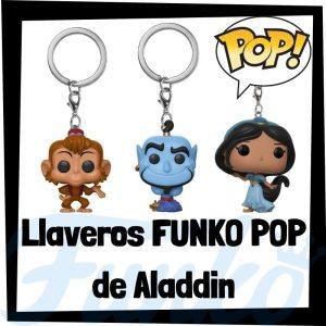Los mejores llaveros FUNKO POP de Aladdin de Disney - Llavero Funko POP de Aladdin - Keychain FUNKO Pocket POP de Disney