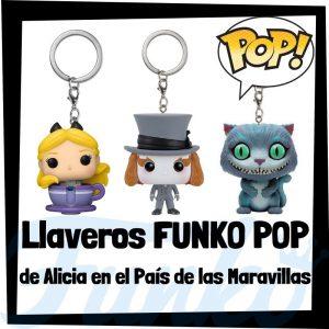 Los mejores llaveros FUNKO POP de Alicia en el país de las Maravillas de Disney - Llavero Funko POP de Alicia en el país de las Maravillas - Keychain FUNKO Pocket POP de Disney