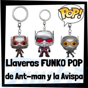 Los mejores llaveros FUNKO POP de Antman de los Vengadores de Marvel - Llavero Funko POP de Antman y la Avispa - Keychain FUNKO Pocket POP de Marvel