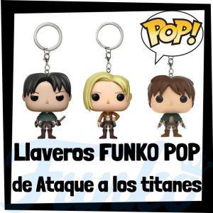 Los mejores llaveros FUNKO POP de Ataque a los Titanes - Llavero Funko POP Pocket de personajes de Ataque a los Titanes - Keychain FUNKO POP de Ataque de los Titanes