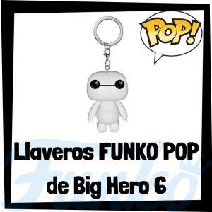 Los mejores llaveros FUNKO POP de Bih Hero 6 de Disney - Llavero Funko POP de Baymax - Keychain FUNKO Pocket POP de Disney