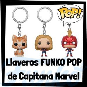 Los mejores llaveros FUNKO POP de Capitana Marvel de los Vengadores de Marvel - Llavero Funko POP de Capitana Marvel - Keychain FUNKO Pocket POP de Marvel