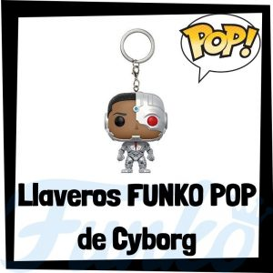 Los mejores llaveros FUNKO POP de Cyborg de DC - Llavero Funko POP Pocket de Cyborg - Keychain FUNKO POP de DC