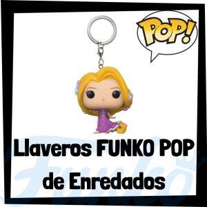 Los mejores llaveros FUNKO POP de Enredados de Disney - Llavero Funko POP de Rapunzel - Keychain FUNKO Pocket POP de Disney