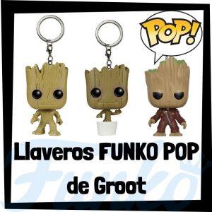 Los mejores llaveros FUNKO POP de Groot de los Guardianes de la Galaxia de Marvel - Llavero Funko POP de Groot - Keychain FUNKO Pocket POP de Marvel
