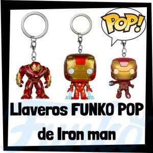 Los mejores llaveros FUNKO POP de Iron man de los Vengadores de Marvel - Llavero Funko POP de Iron man - Keychain FUNKO Pocket POP de Marvel