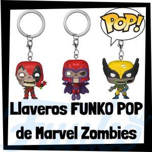 Los mejores llaveros FUNKO POP de Marvel Zombies - Llavero Funko POP de Marvel luchadores de Zombies -Keychain FUNKO POP de Marvel
