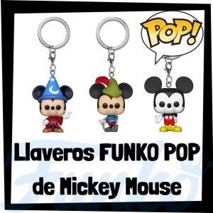 Los mejores llaveros FUNKO POP de Mickey Mouse de Disney - Llavero Funko POP de Mickey Mouse - Keychain FUNKO Pocket POP de Disney