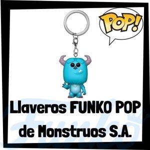 Los mejores llaveros FUNKO POP de Monstruos S.A. de Disney Pixar - Llavero Funko POP de Monsters Inc. - Keychain FUNKO Pocket POP de Disney