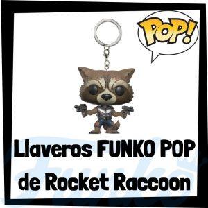 Los mejores llaveros FUNKO POP de Rocket Raccoon de los Guardianes de la Galaxia de Marvel - Llavero Funko POP de Rocket Raccoon - Keychain FUNKO Pocket POP de Marvel
