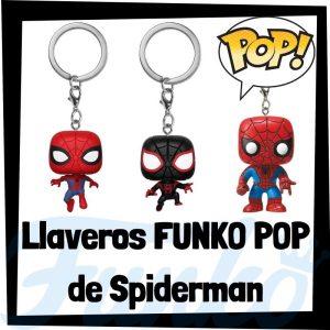 Los mejores llaveros FUNKO POP de Spiderman de los Vengadores de Marvel - Llavero Funko POP de Spiderman - Keychain FUNKO Pocket POP de Marvel