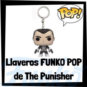 Los mejores llaveros FUNKO POP de The Punisher de los Vengadores de Marvel - Llavero Funko POP de The Punisher - Keychain FUNKO Pocket POP de Marvel