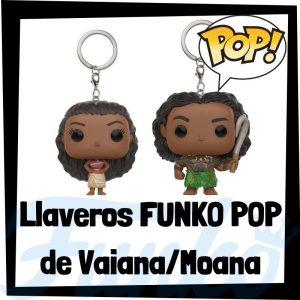 Los mejores llaveros FUNKO POP de Vaiana de Disney - Llavero Funko POP de Moana - Keychain FUNKO Pocket POP de Disney
