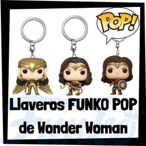 Los mejores llaveros FUNKO POP de Wonder Woman de DC - Llavero Funko POP Pocket de Wonder Woman - Keychain FUNKO POP de DC