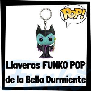 Los mejores llaveros FUNKO POP de la Bella Durmiente de Disney - Llavero Funko POP de Maléfica - Keychain FUNKO Pocket POP de Disney
