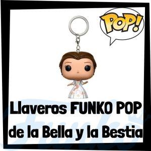Los mejores llaveros FUNKO POP de la Bella y la Bestia de Disney - Llavero Funko POP de la Bella y la Bestia - Keychain FUNKO Pocket POP de Disney