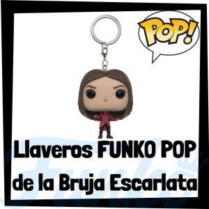 Los mejores llaveros FUNKO POP de la bruja escarlata de los Vengadores de Marvel - Llavero Funko POP Pocket de Wanda - Keychain FUNKO POP de Marvel