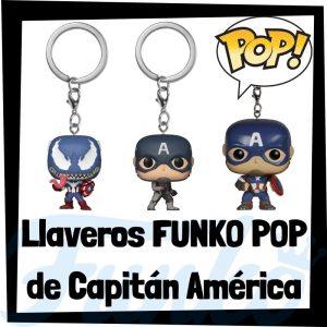 Los mejores llaveros FUNKO POP del Capitán América de los Vengadores de Marvel - Llavero Funko POP de Capitán América - Keychain FUNKO Pocket POP de Marvel