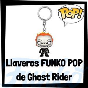 Los mejores llaveros FUNKO POP del Motorista Fantasma de los Vengadores de Marvel - Llavero Funko POP Pocket de Ghost Rider - Keychain FUNKO POP de Marvel