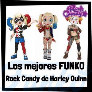 Los mejores FUNKO Rock Candy de Harley Quinn de DC - Figuras Funko Rock Candy de Harley Quinn - Muñecas Rock Candy de heroínas de DC de FUNKO POP