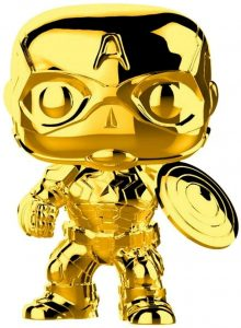 FUNKO POP de Capitán América Chrome de Marvel Studios 10 - Los mejores FUNKO POP Chrome dorado