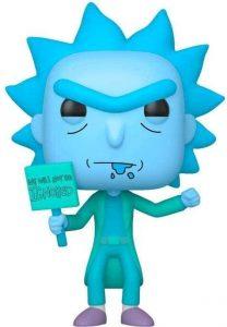 FUNKO POP de Holograma Rick Glow in the Dark - Los mejores FUNKO POP Glow in the Dark - FUNKO POP especiales que brillan en la oscuridad