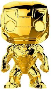 FUNKO POP de Iron man Chrome de Marvel Studios 10 - Los mejores FUNKO POP Chrome dorado